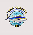 tuna fishing logos vector image