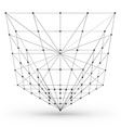 Wireframe polygonal geometric element Cone with vector image