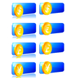 Decals with the currency symbol vector image
