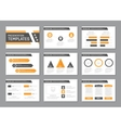 Set of gray and yellow template for multipurpose vector image