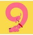 A dog makes number nine vector image