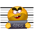 Arrested emoticon Vector Image