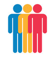 three man sign people icon vector image