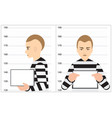 black and white robber mugshot arrested and vector image