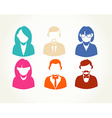 Social media flat people user icons set vector image vector image