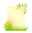 letter with tulips vector image