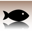 Black Fish sign vector image