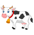 Cartoon Happy cartoon cow vector image