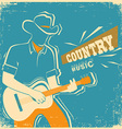 Country music festival with musician playing vector image vector image