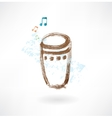 bongo grunge icon vector image