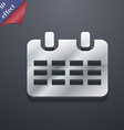 Calendar Date or event reminder icon symbol 3D vector image