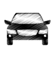 hand drawing driverless car icon vector image