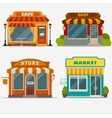 Market Street shop small store front vector image