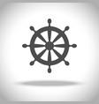 ship steering wheel icon vector image