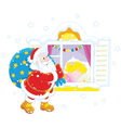 Santa with Christmas gifts vector image