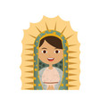 white background of half canvas of virgin of vector image