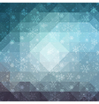 Blue winter background with triangle texture vector image