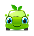 Eco friendly car vector image