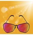 Retro Sun Glasses vector image