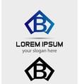 Letter B logo icon design template vector image