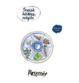 passover watercolor vector image