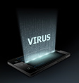 Virus icon Hologram vector image