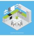 Kitchen Interior Isometric Design vector image
