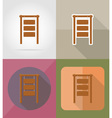 wooden board flat icons 01 vector image vector image