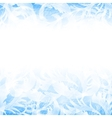 frost glass pattern Winter blue background vector image