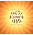 Orange sunny background with text eps10 vector image vector image