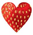 hearts strawberry vector image