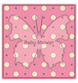 Baby-shower-butterfly-pink-polka-dot-2 vector image vector image