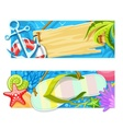 Summer sea beach rest banners vector image vector image