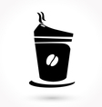 black coffee icon vector image