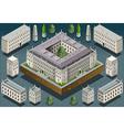 Isometric European historic building vector image