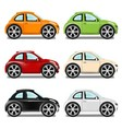 Mini car with big wheels six colors vector image