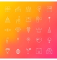 Party Time Line Icons vector image
