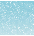 Snowfall pattern on gradient sky background vector image
