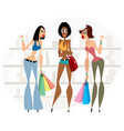 women with shopping vector image