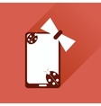 Flat web icon with long shadow mobile phone vector image
