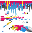 cmyk splashes vector image vector image