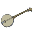 Vintage four strings banjo vector image