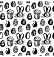 grunge brush easter seamless pattern vector image vector image