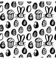 grunge brush easter seamless pattern vector image