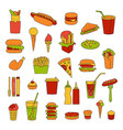 fast food big set vector image
