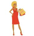 Preggy shopping at sales vector image