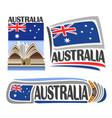 logo australia vector image