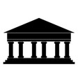 bank building the black color icon vector image