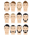 Colorful Male Faces vector image vector image