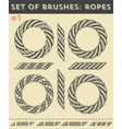 Set of brushes 1Ropes vector image vector image